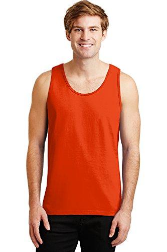 Erwachsene Ultra Cotton T-shirt (Gildan Rmk Ultra Cotton Tank Top Ash Grey Training Shirts (72 Stück), Unisex-Erwachsene, Orange, Medium)