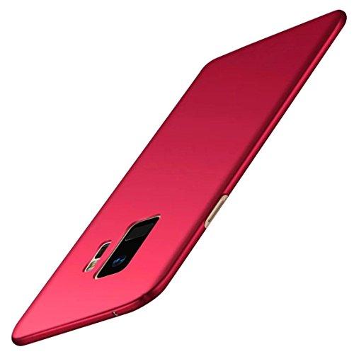 MuSheng For Samsung Galaxy S9 Hülle,Stoßfest Handy Fall Stark Schutzhülle Ultra Thin Luxus Hart PC Schutzhülle für Samsung Galaxy S9 5,8 Zoll (Rot) 5.8 Handys