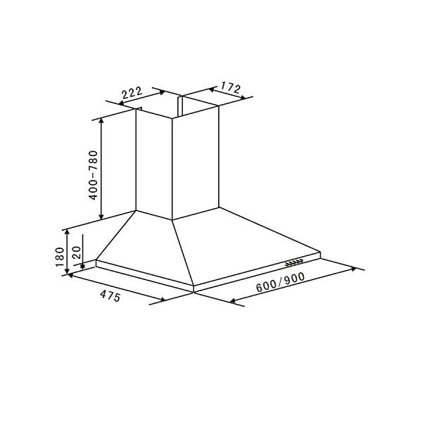 Klarstein Zugspitze 60 Campana extractora – Extractor de pared, Extractor de humos, 65 W, Absorción de 310m³/h…