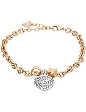 Guess Damen Armband Metall Rosegold/Silber Heart UBB21575-S