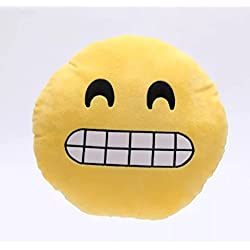Camabarata Emoji Emoticono Cojín Almohada, el peluche blando redondo que se adapta descansando