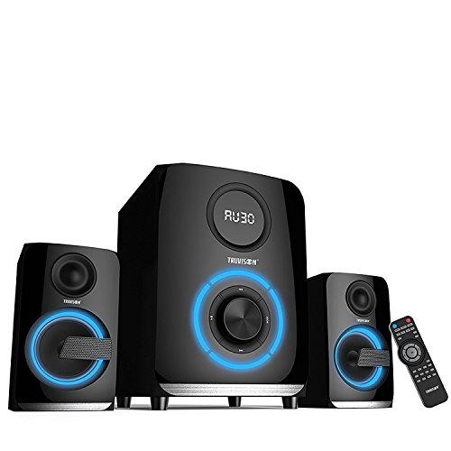 Truvison SE 2089BT 6000 Watts 2.1 Multimedia Speaker System USB FM AUX MMC Playback Support Bluetooth Feature Superior Sound Clarity