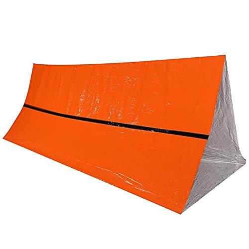 HWCP.CP Notfallzelt Außendämmung Reflektierend Lebensrettendes Zelt Sonnenschutz Raum Decke Orange 240 × 150Cm (2 Packungen) (Cp-749)