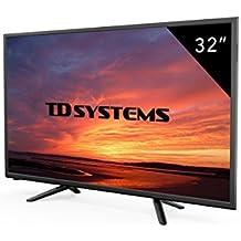 Televisores Led 32 Pulgadas HD TD Systems K32DLT7H, Resolución 1366 x 768, 3x HDMI, VGA, USB Reproductor y Grabador.