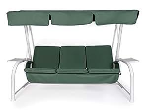 Set cuscini tetto di ricambio per dondolo 4 posti verde for Cuscini amazon