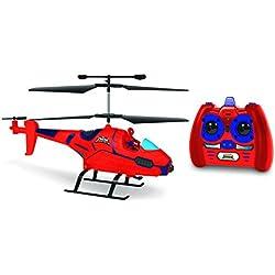 World Tech Toys-Heroes 3.5CH Spiderman con Figura Marvel IR helicóptero, 33846