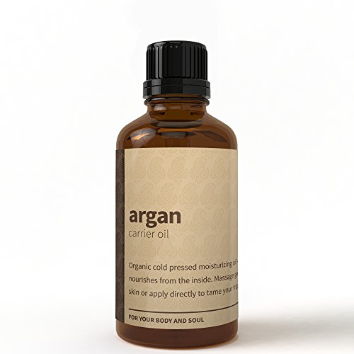 Rouh Essentials 100% Pure & Organic 50 ML Moroccan Argan Oil – Best for Skin Care, Carrier Oil and Hair Nourishment (50 ML)