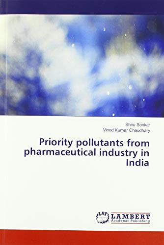 Priority pollutants from pharmaceutical industry in India