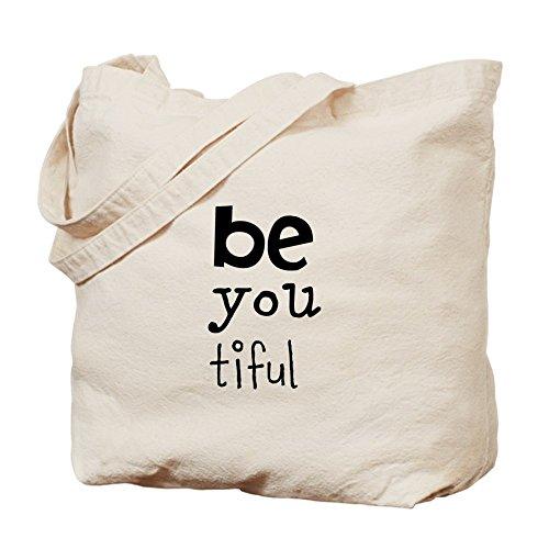 CafePress–Be You Tiful–Leinwand Natur Tasche, Reinigungstuch Einkaufstasche