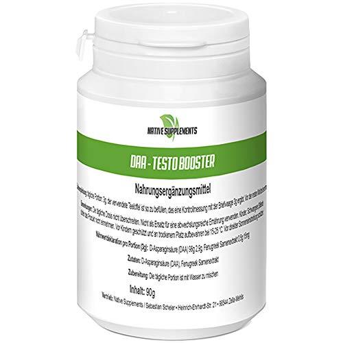 DAA Testo Booster, 90g pro Dose, D-Asparaginsäure Hochdosiert, Premium Qualität, Hardcore Energy, Muskelaufbau Nahrungsergänzungsmittel