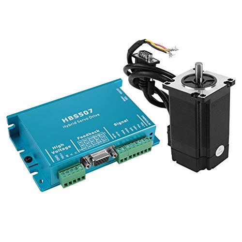 Hybrid-Servomotor mit geschlossenem Regelkreis, Schrittmotor-Treiber-Controller mit geschlossenem Regelkreis Leadshine 2NM Hybrid Servo HBS507 + 573HBM20 für CNC Router Gravierfräsmaschine