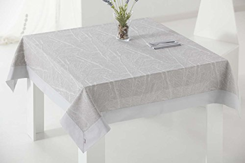 ES-TELA - Mantel tejido ETNA color Perla - 155x300 cm. - Confección...