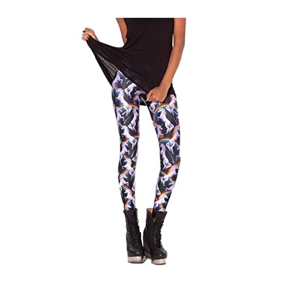f1854da0cc3ccd Bigood Women Fashion Print Leggings Pant Stretch Jeggings Tights ...