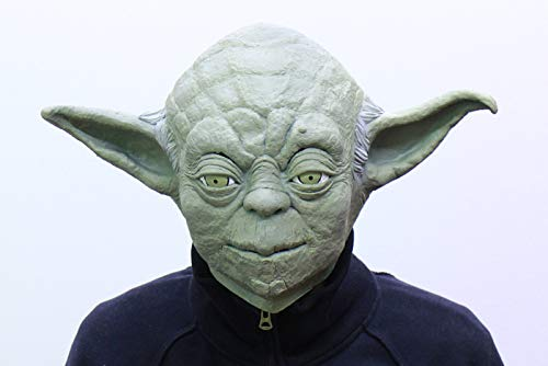 Kostüm Kopf Yoda - Star Wars Maske (kompletter Kopf) Kostüm - Fasching Party Karneval (Yoda)