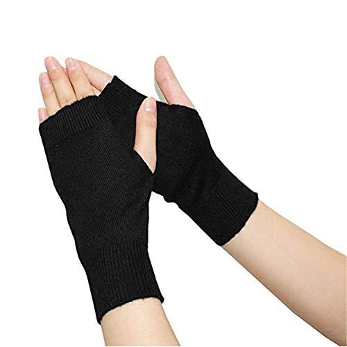 Fully Par guantes elásticos invierno agujero pulgar