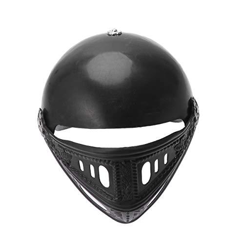 Amosfun Kunststoff Cosplay Helm Römischer Krieger Maske Helm Ritter Kostüm Helm für Party Größe 1 Schwarz (Schwarzer Ritter Kostüm)