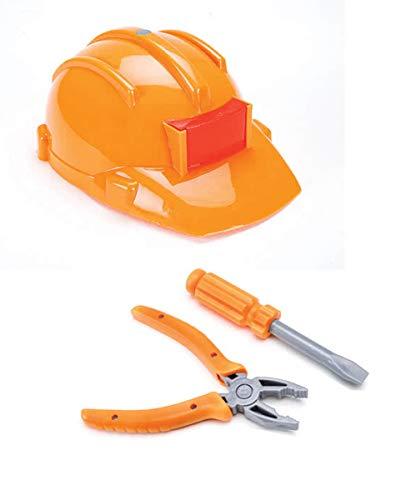 Horror-Shop Bauarbeiter Kostüm Set für Kinder 3-TLG. - Fasching & Mottoparty Kostümzubehör