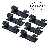 LEXPON 20 Stücke Selbstklebend Kabelschellen/Kabel-clips für Haus, Büro, Auto, PC