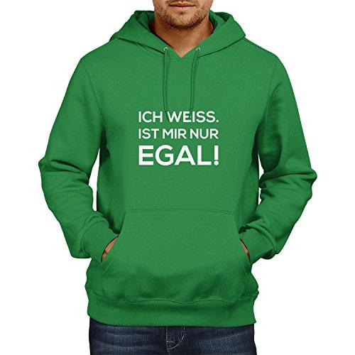 mir nur egal! - Herren Kapuzenpullover, Größe L, grün (Grünen Kostüm Ideen Für Tag Des Sports)