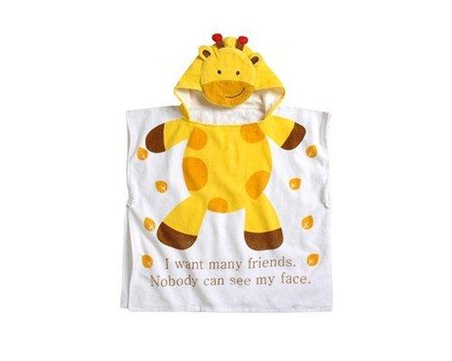 DSStyles 60 x 120 cm Serviette de Bain Poncho de Bain Taupe Peignoir Sortie Serviette de Bain a Capuche Pour Bebe Mignon Mode Animal - Girafe
