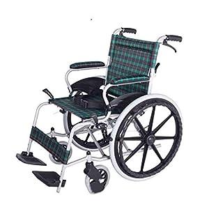 Wheelchair Manual wheelchair Folding lightweight wheelchair Aluminum alloy wheelchair Disabled elderly wheelchair