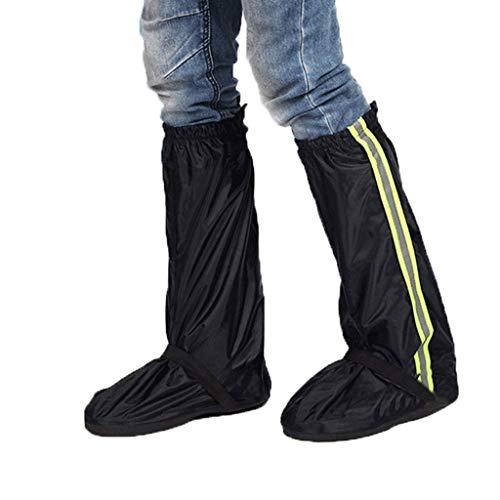 Duanguoyan Regenstiefel- Oxford-Tuch langes Rohr im Freien, das wasserdichte Schuhabdeckung reitet (Farbe : Dark Blue, größe : XL)