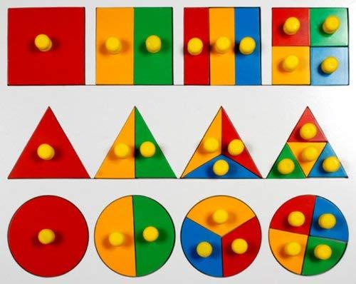 Stonkraft Lernspielzeug für Kinder im Vorschulalter - Bruch mit großem Knopf | Mathe Lernen | Mathe Spiele | Brüche Lernen | Lernspielzeug | Lernspiele | Verursachte Puzzlespiele (Kinder Im Vorschulalter Lernspielzeug Für)