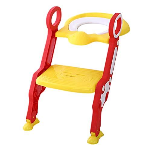 Toilettentrainer mit Treppe Serria® justierbarer Töpfchen-Sitz mit Schritt Toilettensitz-Stuhl mit Rutschfester Griff für Kleinkinder,und Jungen, Mädchen (Töpfchen Stuhl Griffe)