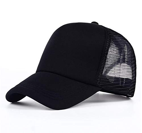 JIACHIHH Baseballmütze Baumwolle,Frühling Sommer Schwarz Baseball Cap In Leinwandbindung Hat Leere Mesh Hat - Nike Mesh Hat