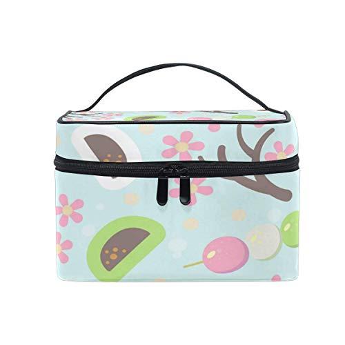 Tragbare hängende Make-up Kosmetiktasche Tasche,Travel Cosmetic Bag Flower Bun Skewers Food Toiletry Makeup Bag Pouch Tote Case Organizer Storage for Women Girls - Deckel Mädchen Bun