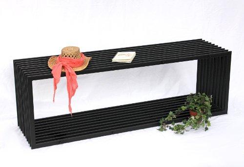 DanDiBo Bank D-Stil 150 cm Modern Gartenbank 10103 Sitzbank aus Metall Eisen Blumenbank - 5