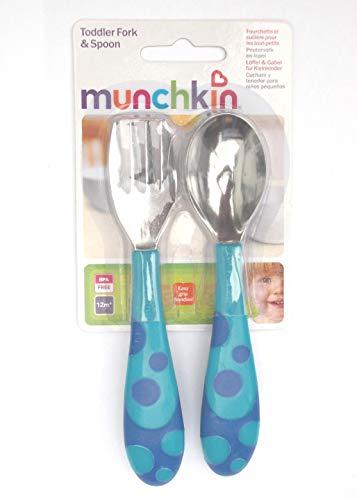 Munchkin Gabel- und Löffel-Set für Kleinkinder ab 12 Monaten, BPA-frei -
