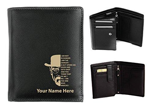 Personalizzato da uomo, in pelle, a portafoglio, colore Laser & Heisenberg Design con il proprio nome, Origin