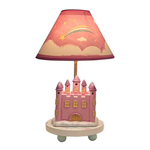 MQW Godess4 Kreative Cartoon Schöne Rosa Prinzessin Schloss Einstellbare Licht LED Dekoration Lesen Geschenke Kinderzimmer Schlafzimmer Nachttischlampe 27 * 42 Einfach romantisch (Dekoration Schloss Prinzessin)