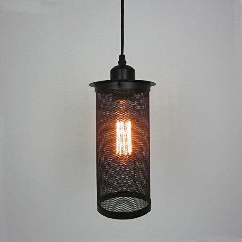 ZQ@QX Design moderno elegante cucina soggiorno lampadario pranzo Lampade anti-esplosione netto gabbia singola testa - Anti Ruggine Vernice