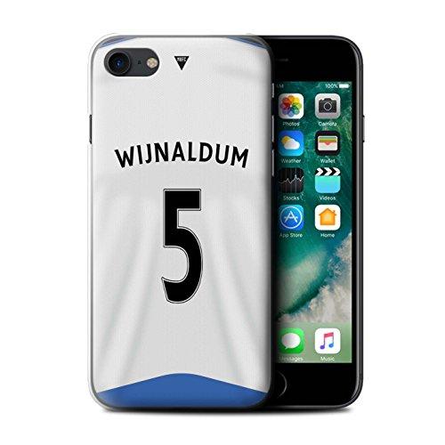 Officiel Newcastle United FC Coque / Etui pour Apple iPhone 7 / Sissoko Design / NUFC Maillot Domicile 15/16 Collection Wijnaldum