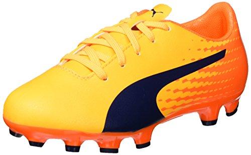 Puma Evospeed 17.5 Ag Jr, Chaussures de Football Mixte Enfant, Jaune (Ultra Yellow-Peacoat-Orange Clown Fish 03), 35.5 EU