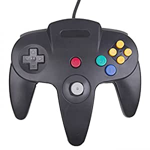 HDE Classic Nintendo 64 Controller Wired Replacement Gamepad for Original N64 Game Consoles (Black)