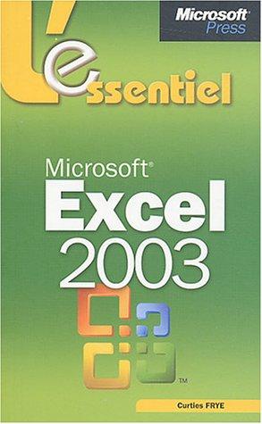 L'Essentiel Microsoft Excel 2003 - livre de référence - français
