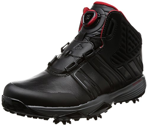 Adidas 2017 Mens Climaproof Boa Wide Waterproof Golf Shoes Winter Boots Black/Black 9.5UK