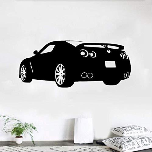 Race Sports Car Wandtattoo Dekor Aufkleber Art Vinyl Wand Nissan Gtr Automotive Decals Auto Aufkleber 41x98cm