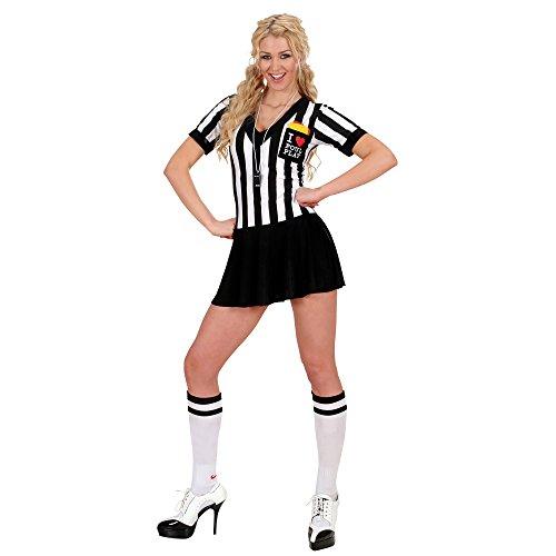 Widmann 76902 - Kostüm Schiedsrichterin, weiß Ÿ/ schwarz, Größe M