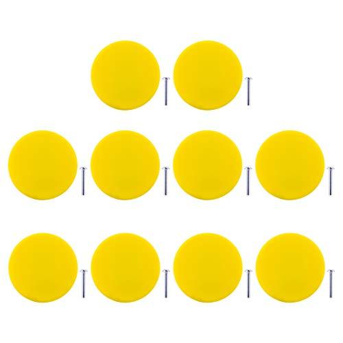 Gettesy 10er Set Möbelknopf Kinderzimmer Möbelgriffe für Küche Schränke, Kleiderschrank, Kommode, Schublade,Schranktür Schlafzimmer und Badezimmer KinderZimmer Dekor etc -
