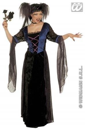 Gothic-Prinzessin Kostüm Damen (Gothic Halloween Prinzessin Kostüm)