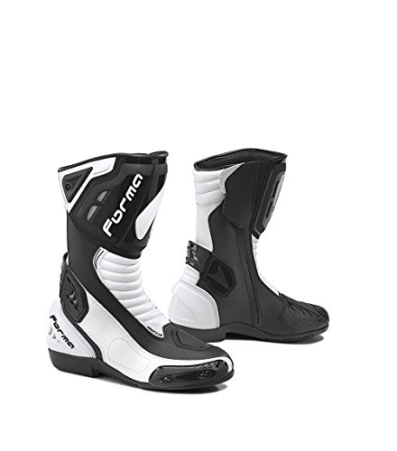 Stiefel Motorrad Form Typ Racing Blinker Black & White
