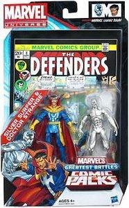 Marvel Universe The Defenders Comic Pack - Silver Surfer and Doctor Strange Figuren [UK Import]