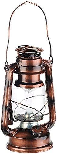 Lunartec Sturmlampe: LED-Sturmleuchte im Öllampen-Design, Flammen-Imitation, bronzefarben (Petrollampe)