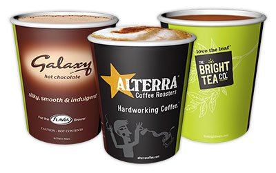 New Design Flavia 8 / 9oz ( 250ml ) Paper Cups - Suitable For Flavia and other Coffee Machines - 1000 Cups / 1 Full Case from Mars