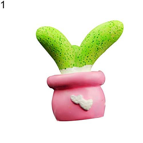 qhtongliuhewu - Deodorante per Auto a Forma di Cactus, con Clip, 3,5 x 4 cm (Circa)