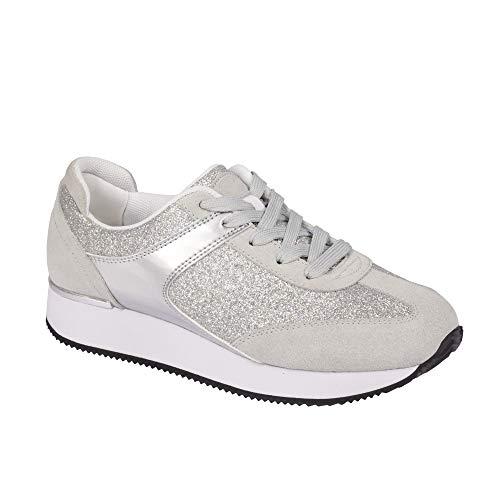 Scholl Sneakers Charlize Silber 40 - Graue Turnschuhe Für Kinder